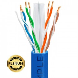 Cat6 Plenum Solid Copper UL listed 1000ft UTP Networking cables