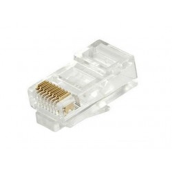 Cat5e & Cat6 Crimp Connector Rj45 100Pcs